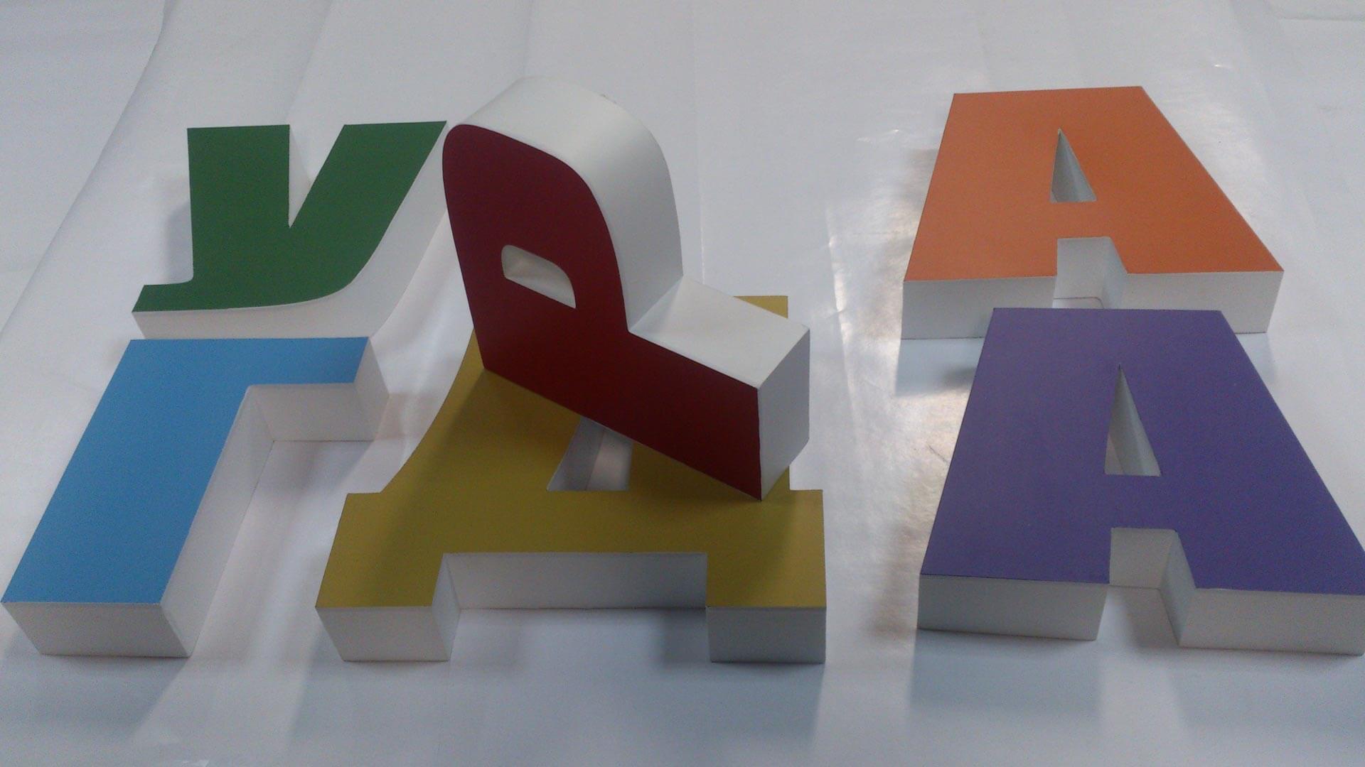 Объемные световые буквы своими руками для рекламной вывески